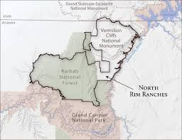 Map Of Grand Canyon North Rim Ranches Grand Canyon Trust
