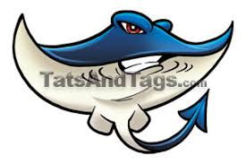 sting ray tattoo blue stingray temporary tattoo swimming designs by custom tags