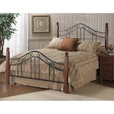 madison wood u0026 iron bed in black cherry master bedroom