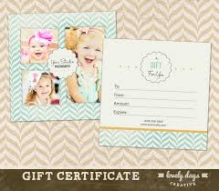 free photography gift certificate template photoshop google
