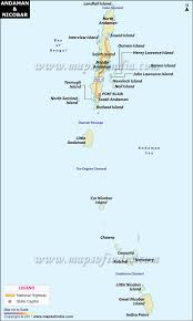North India Map by Andaman And Nicobar Islands Map India