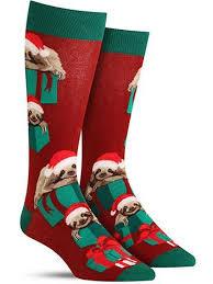 santa sloth socks mens
