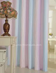 Lilac Curtains Print Rainbow Lilac And Blue Faux Linen Window Curtains