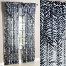 Zebra Print Curtain Panels Kenya Zebra Window Treatment