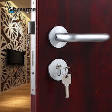 Interior Door Latch Hardware Factory Direct Supply Space Aluminum Lockbody Interior Door Handle