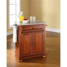 crosley furniture kitchen island crosley furniture alexandria solid granite top cherry kitchen island
