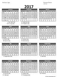 Business Templates Excel 2017 Business Calendar Templates Free Business Calendars