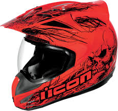 ebay motocross gear icon variant etched motorcycle street dual sport helmet red black