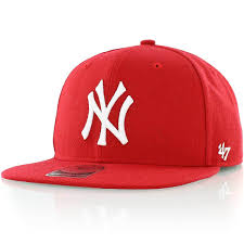 new york yankees red adjustable sure shot snapback
