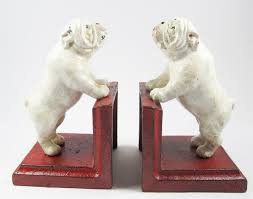 buy british bulldog bookends cast iron aged appearance