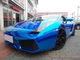 chrome blue lamborghini aventador blue chrome wrap strikes again lambo gallardo from china