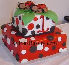 traditional cake design with two tiers in baby blue and brown and