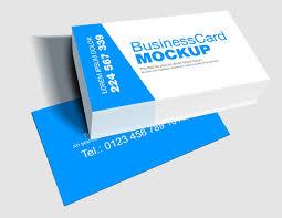 business card designs psd blue white business card template psd
