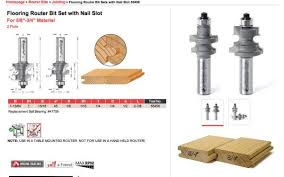 anyone use this amana flooring t g router bit