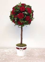 red rose topiary tree flower arrangement perfect for valentine u0027s