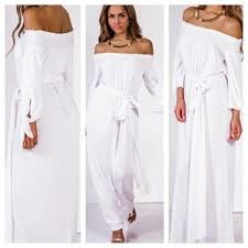 all white jumpsuits white jumpsuit dress fashion dresses