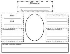 free biography graphic organizer 4th grade this graphic organizer can help students to organize their thoughts