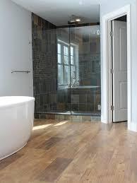 Bathroom With Wood Tile - faux wood tile houzz