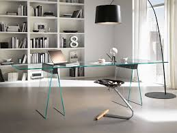 Office Desk With Glass Top Contemporary Glass Desks Contemporary Glass Office Desks Glass