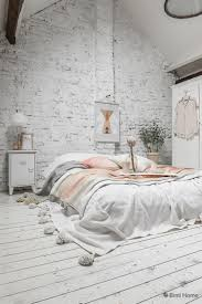 Interior Inspiration Pastel Bedroom Decoration Styled With A White Brick Wall