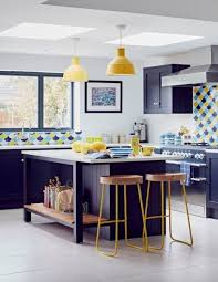 white kitchen cabinets with blue tiles 25 catchy and bold blue and yellow kitchens digsdigs