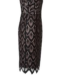 illusion neckline black lace dress cleo