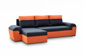 Orange Sleeper Sofa Orange Grey Faux Leather Sleeper Sofa Decorate Faux Leather