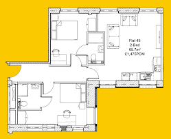 Floor Plan Flat by Flat 45 Park Square Residence Leeds Ls1