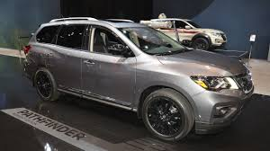 nissan pathfinder 2017 interior nissan pathfinder midnight edition showcased at 2017 chicago auto