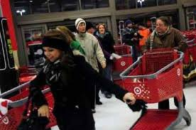 rush at target in black friday what if they had a black friday and no one lined up