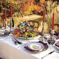 simple thanksgiving table setting southern living