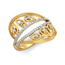 beautiful golden rings images Beautiful diamond ring with stunning looks from ornomart 39 s jpg