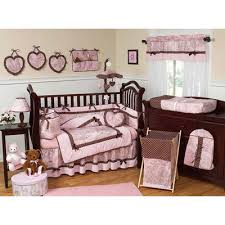 French Toile Bedding Jojo Pink And Brown French Toile And Polka Dot Decorating Kids Rooms