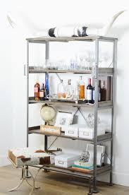 bar shelf mckenna bleu world marker emerson shelf horns picked up on our cross country road trip similar here silver wine glasses silver tray also loving this option