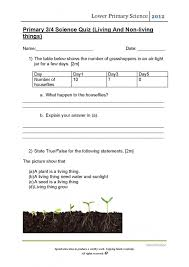 science worksheets for grade 1 living and nonliving things living
