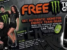 free monster energy drink gear