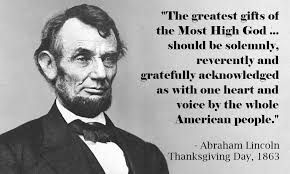 abraham lincoln s thanksgiving declaration to a divided nation