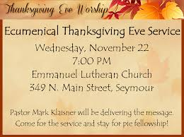 ecumenical thanksgiving service new united methodist church