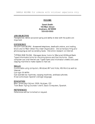 sample resume basic volunteer work on resume example template sample resume volunteer work
