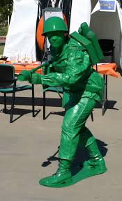 hazmat suit halloween costume plastic green toy soldier with flamethrower costume 9 steps with