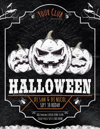 halloween party flyer poster by oloreon graphicriver