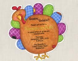 turkey invite etsy