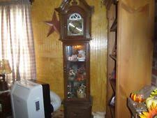 Antique Curio Cabinet With Clock Curio Grandfather Clock Ebay