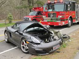 video porsche vs large truck injures 3 closes route 137 in harwich