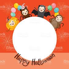 halloween cartoon clip art halloween cartoon character on circle frame stock vector art