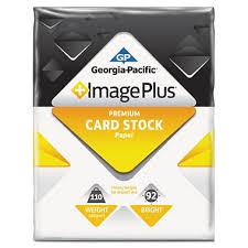 gp image plus card stock paper 110 lb 8 1 2 x 11 1 pack