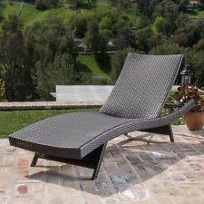Chaise Lounge Pool Outdoor Brown Adjustable Chaise Lounge Pe Wicker Patio Furniture