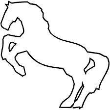 coloriage cheval à colorier dessin à imprimer profil de cheval
