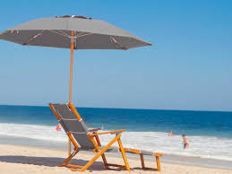 Beach Lounge Chair Frankford Umbrellas Oak Wood Beach Lounge Chair With Foot Rest