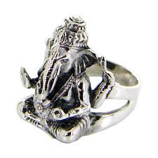 black friday weights lord ganesh idol sterling silver ring black by jewelkingthai